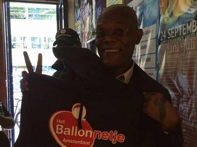 Samuel L Jackson Visits Het Ballonnetje